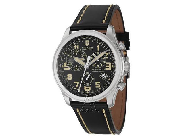 Victorinox Swiss Army Mens Infantry Leather Chronograph Watch 241314