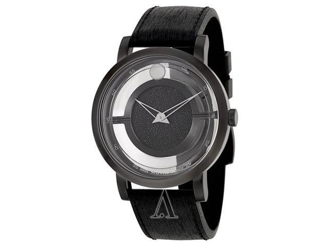 Movado Museum Translucent Black Dial Mens Watch 0606568