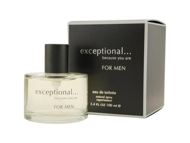 EXCEPTIONAL-BECAUSE YOU ARE by Exceptional Parfums EDT SPRAY 3.4 OZ for MEN