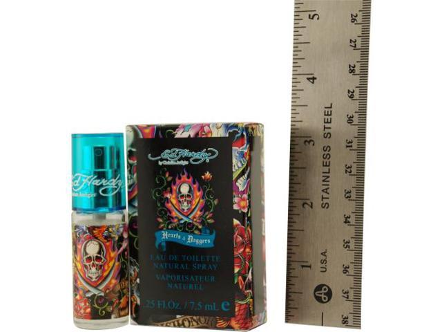 ED HARDY HEARTS & DAGGERS by Christian Audigier EDT SPRAY MINI .25 OZ for MEN