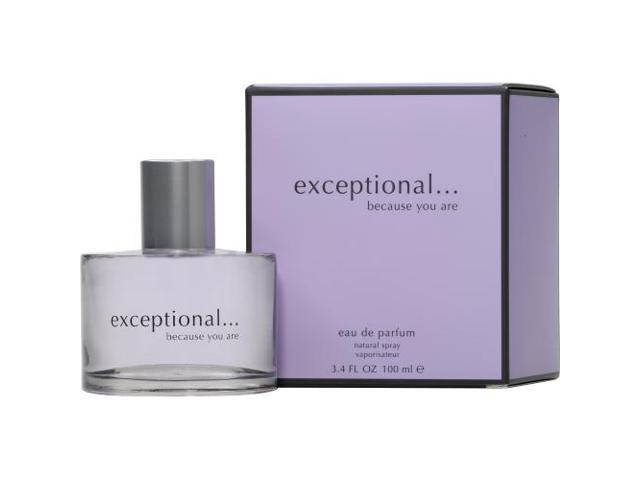 EXCEPTIONAL-BECAUSE YOU ARE by Exceptional Parfums EAU DE PARFUM SPRAY 3.4 OZ for WOMEN
