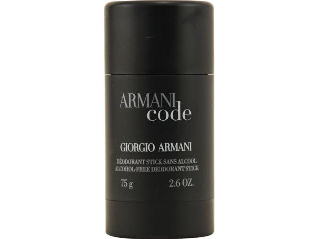 Armani Code by Giorgio Armani Alcohol Free Deodorant Stick 2.6 Oz for Men