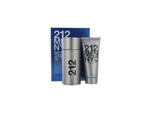 212 by Carolina Herrera for Men - 2 Pc Gift Set 3.4oz EDT Spray, 3.4oz After Shave Gel