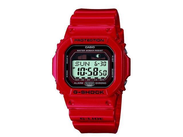 Casio Digital G-Lide Tide Red G-Shock Mens Watch GLX5600-4