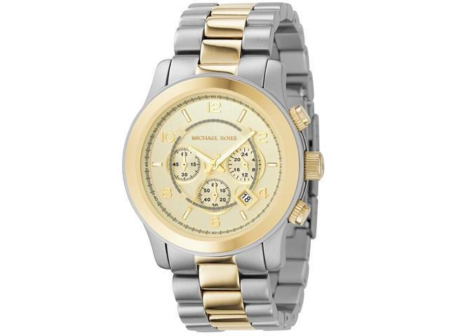 Michael Kors Mens Chronograph Two-Tone Watch MK8098