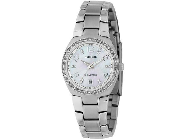 Fossil Glitz Mother of Pearl Analog Dial Ladies Watch AM4141