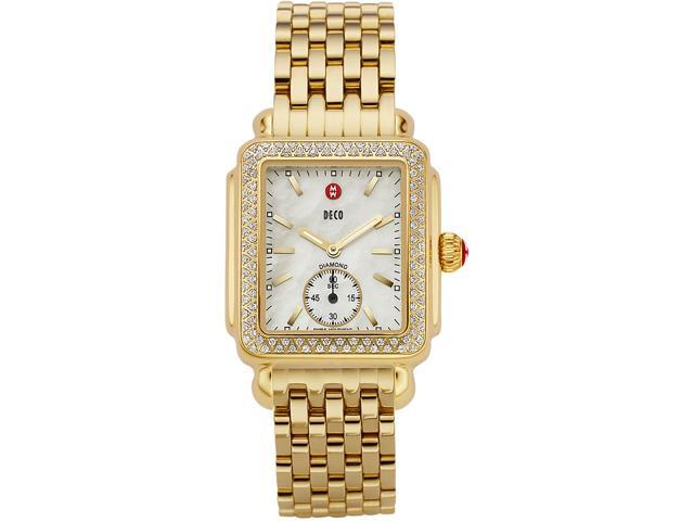 Michele Deco-16 Mother of Pearl Dial Diamond Bezel Ladies Watch MWW06V000003
