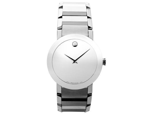 Movado Sapphire Silver Mirror Mens Watch 0606093