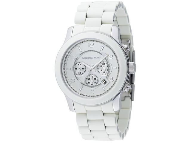 Michael Kors Runway White Chrono Unisex Watch MK8108