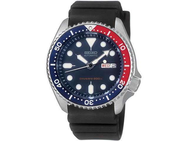 Seiko Divers Pepsi Bezel Blue Dial Automatic Stainless Steel Mens Watch SKX009