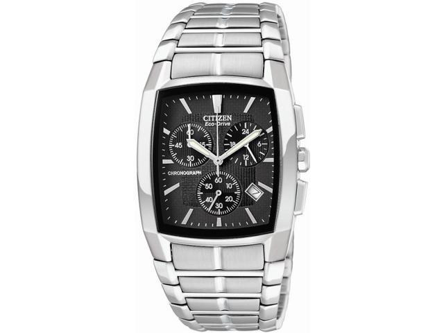 Citizen Men's Eco-Drive Chronograph Black Textured Dial Stainless Steel