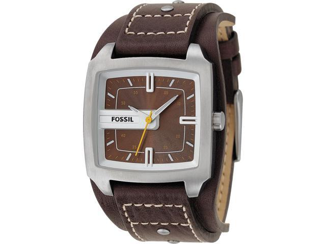 Fossil Brown Leather Mens Watch JR9990