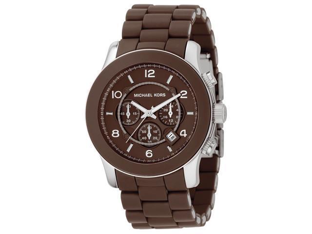 Michael Kors Men's Chronograph Chocolate Brown Polyurethane