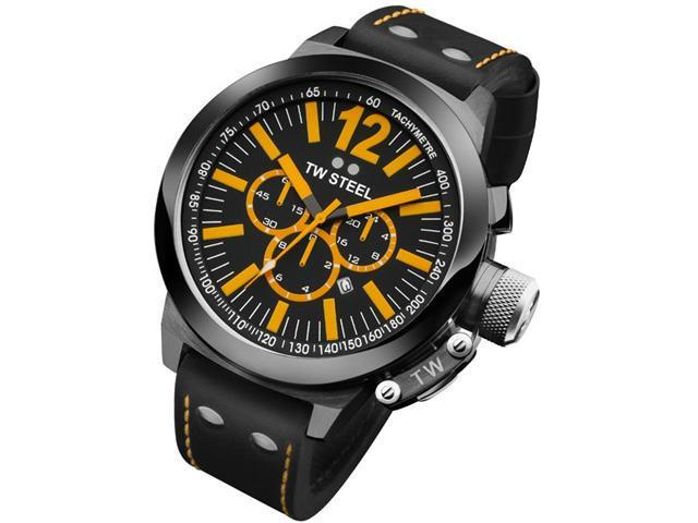 TW Steel CEO Canteen 50 MM Black Dial Chronograph Mens Watch CE1030