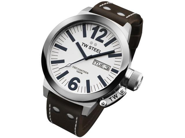 TW Steel CEO Canteen 45 MM White Dial Mens Watch CE1005
