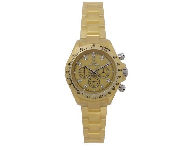 Toy Watch Plasteramic Pearilzed Pearl Chrono Gold Watch FLP07GD