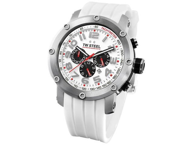 TW Steel Grandeur Tech 48mm White Dial Chronograph Mens Watch TW123