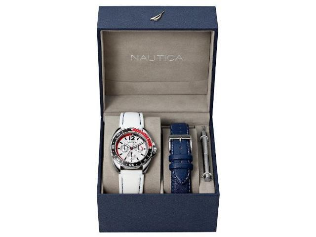 Nautica Box Set Sport Ring White Dial Unisex watch #N09907G