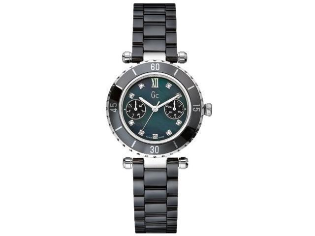 GC DIVER CHIC Diamond Dial Black Ceramic Ladies Watch G46003L2