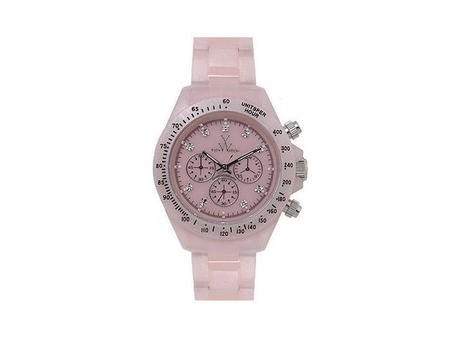 Toy Watch Plasteramic Pearilzed Chrono Pink Watch FLP10PK