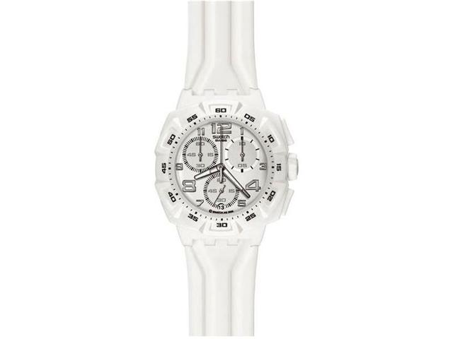 Swatch Originals Chrono Mister Pure White Watch SUIW402