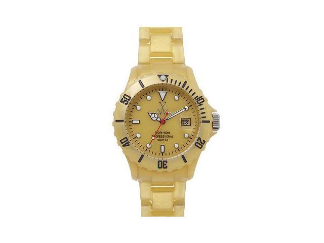 Toy Watch Plasteramic Pearilzed Pearl Gold Watch FLP02GD