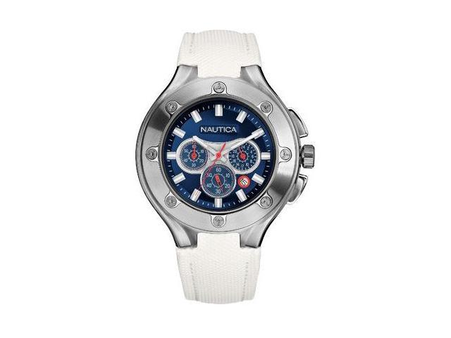 Nautica NCS-100 White Chronograph Mens Watch N25510G