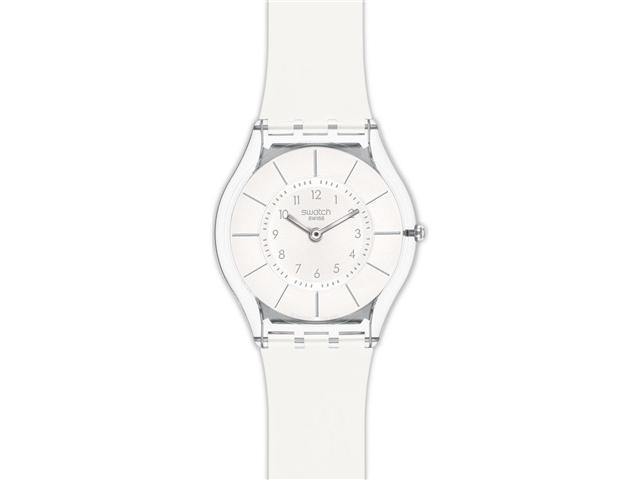 Swatch White Classiness White Silicone Ladies Watch SFK360