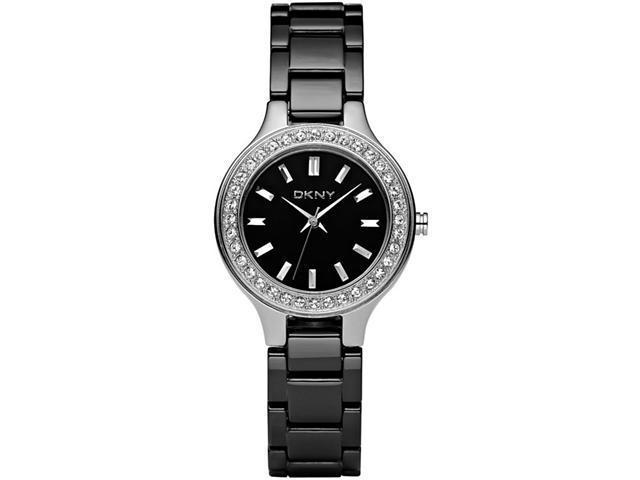 DKNY Black Ceramic Watch Ladies NY4980