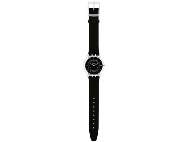 Swatch Black Classiness Black Silicone Ladies Watch SFK361