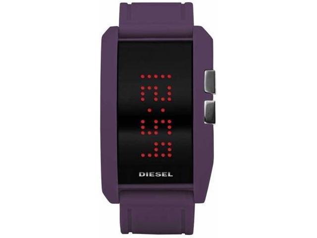Diesel Mens Quartz Purple Silicone Watch