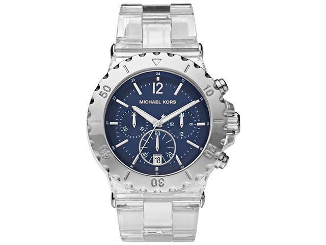 Michael Kors Chronograph   Clear Acetate Ladies Watch   MK5409