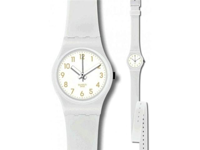 Swatch Cool Breeze White Silicone Ladies Watch LW134C