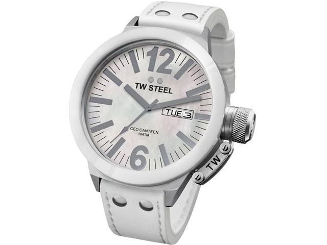 TW Steel CEO Canteen Mother of Pearl Dial 50MM Mens Watch CE1038