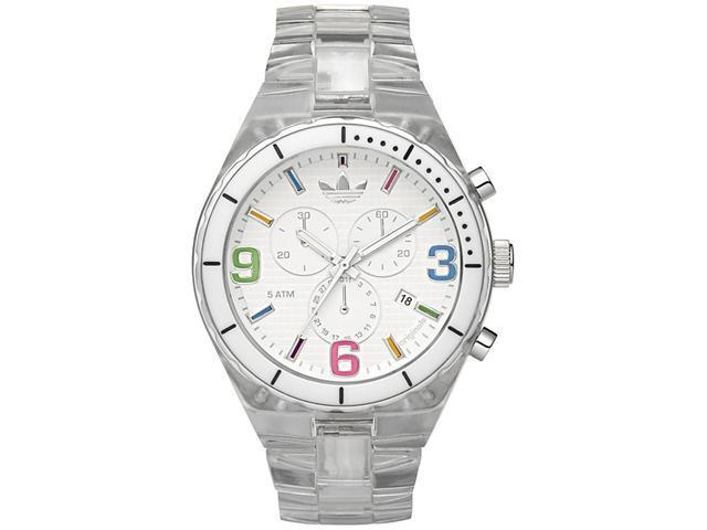 Adidas Chronograph Cambridge   Clear Nylon Plastic Watch   ADH2517