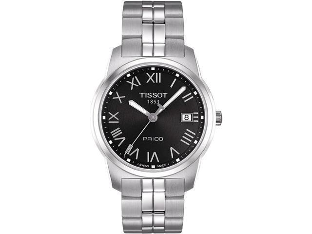 Tissot PR 100 Black Dial Bracelet Mens Watch T0494101105301