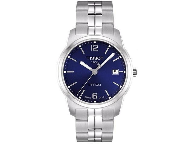 Tissot PR 100 Blue Dial Bracelet Mens Watch T0494101104701