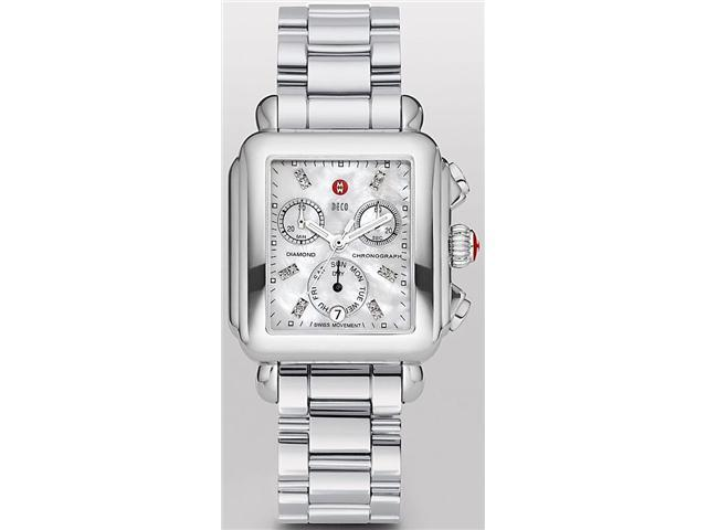 Michele Signature Deco Non-Diamond Diamond Chrono Dial Ladies Watch MWW06P000101