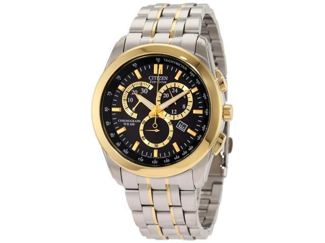Citizen Eco-Drive Chronograph WR100 Black Dial Men's watch #AT1184-55E