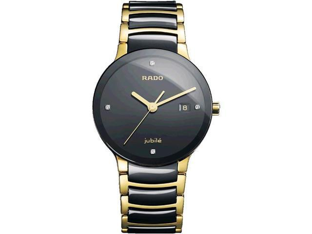 Rado Centrix Jubile Black Ceramic Mens Watch R30929712