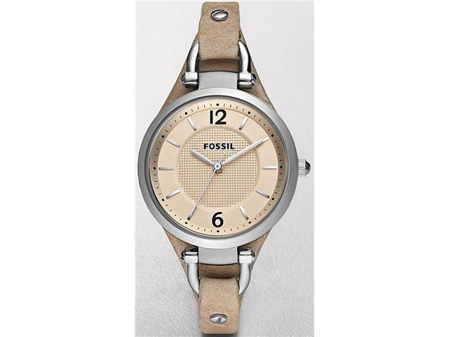 Fossil ES2830 Georgia Beige Dial Light Brown Leather Women's Watch