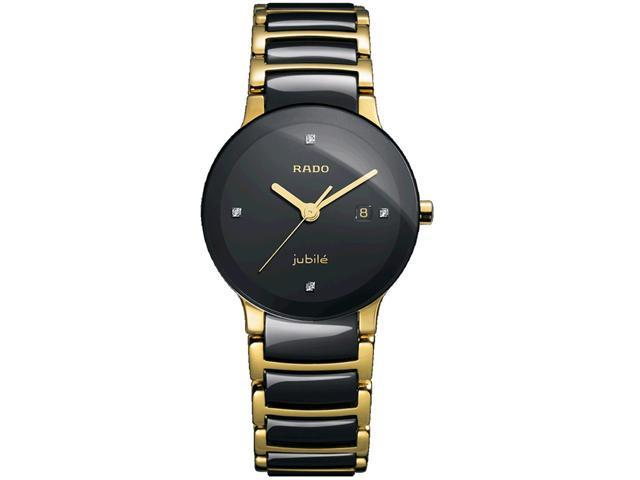 Rado Centrix Jubile Black Dial  Two Tone Ceramic Watch R30930712