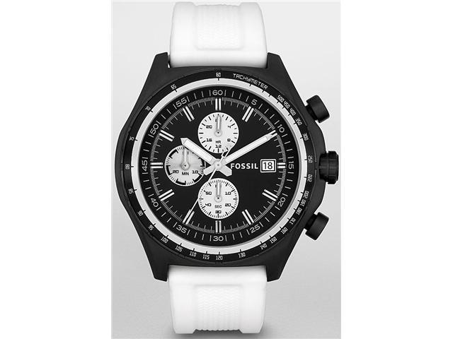 Fossil Dylan White   Silicone Chronograph Mens   Watch CH2778