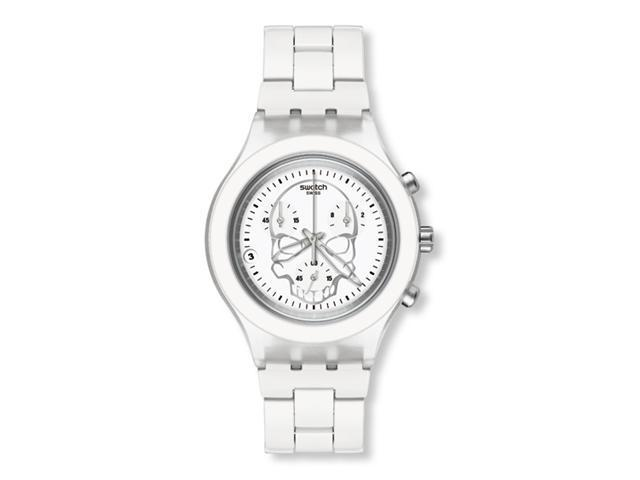 Swatch Full-Blooded White   Skull Unisex Watch   SVCW4000AG