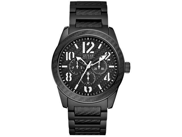 GUESS Chronograph Black   Plated Aluminum Mens Watch   U13614G1