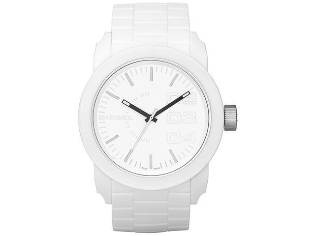 Diesel Double Down White Rubber Mens Watch DZ1436