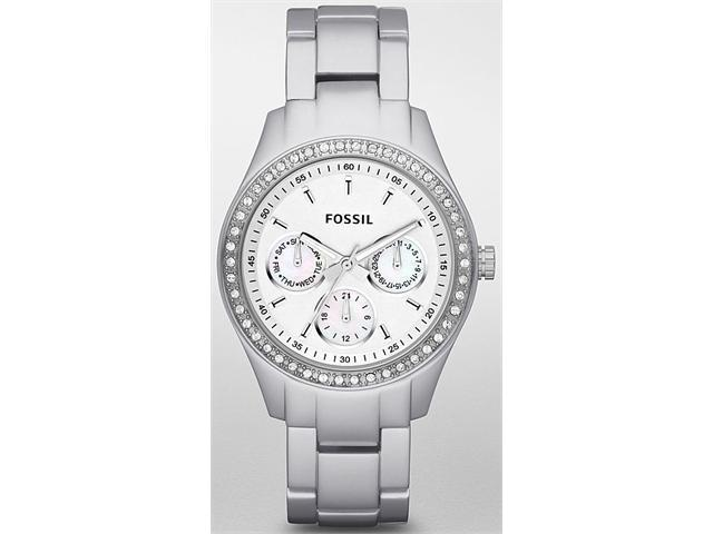 Fossil Dress Silver-Tone Dial Women's Watch #ES2947