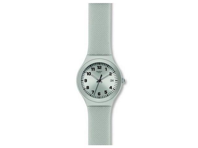 Swatch Silver Effect Grey Silicone Ladies Watch YGS4032