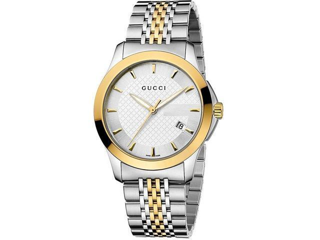 Gucci G-Timeless Two-tone Stainless Steel Unisex Watch YA126409