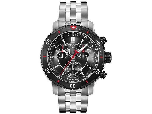Tissot T-Sport PRS200 Chronograph Black Textured Dial Mens Watch T0674172105100